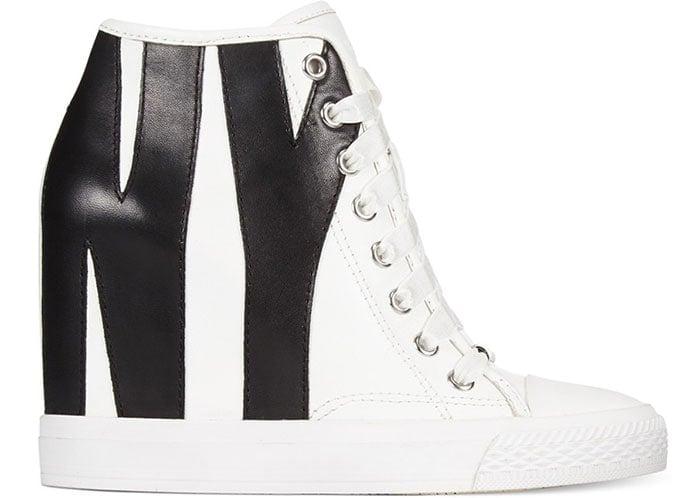 DKNY-Grommet-Leather-Wedge-Sneakers-1