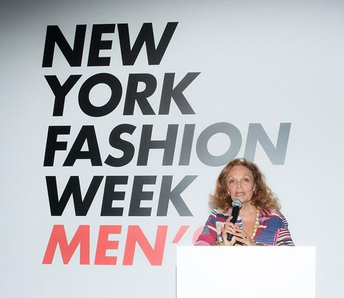 Diane von Fürstenberg discussing the growth and impact of fashion week