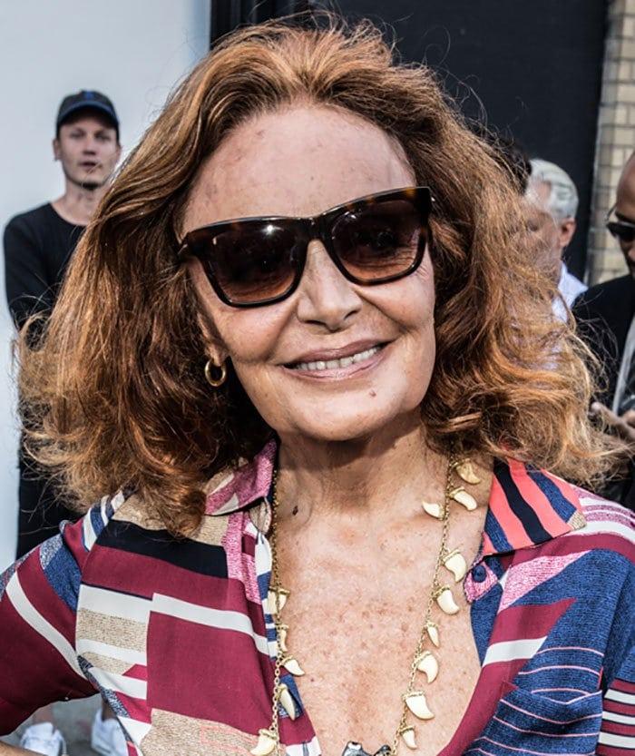 Diane von Fürstenberg's shark-tooth necklace