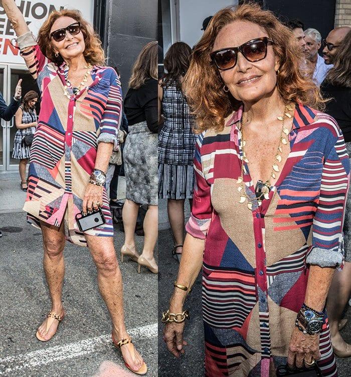 Diane von Fürstenberg at the New York Fashion Week Men's S/S 2016 Opening Press Conference