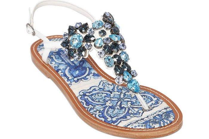Maiolica Patent and Swarovski Crystal Sandals