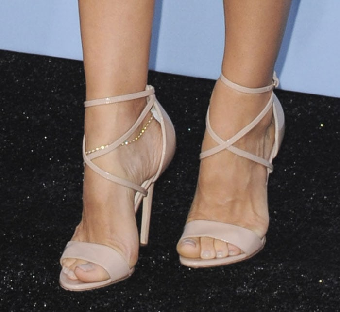 Elsa Pataky's feet in Brian Atwood sandals