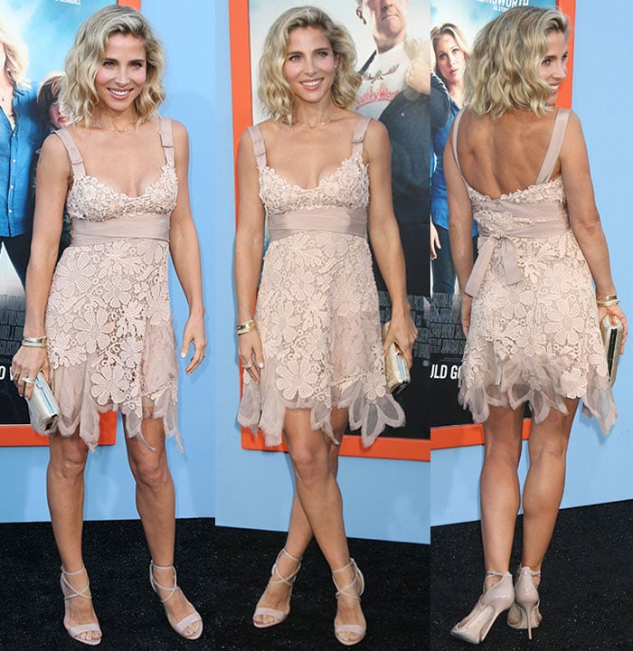 Elsa Pataky styles her Alberta Ferretti frock with some bangles and a clutch
