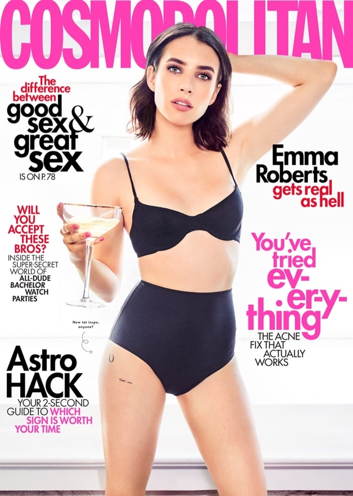 Emma Roberts opens up out about splitting from her ex-fiancé Evan Peters and the pain of loss in Cosmopolitan's June 2019 issue