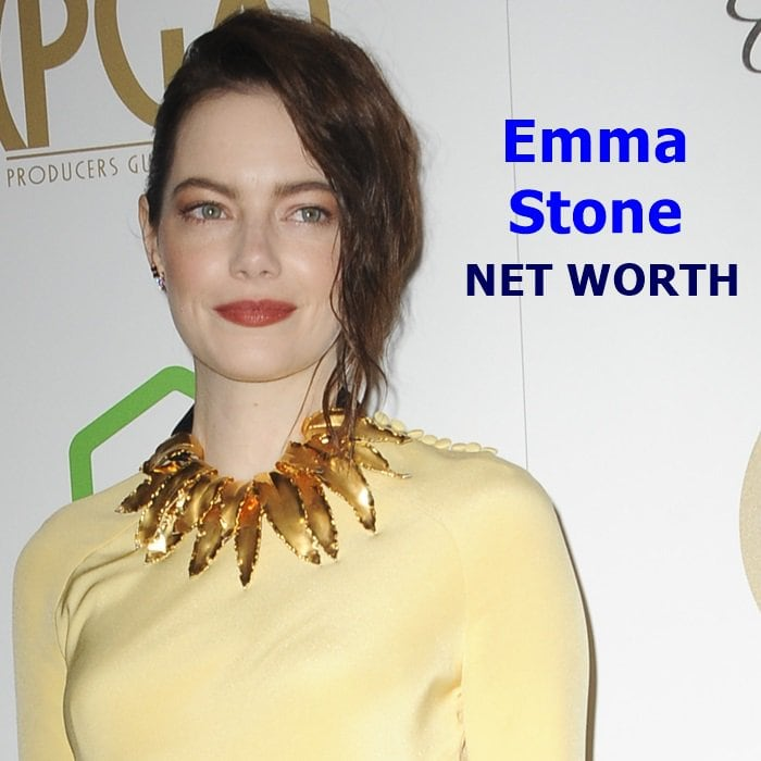 Emma Stone's net worth is $28 million