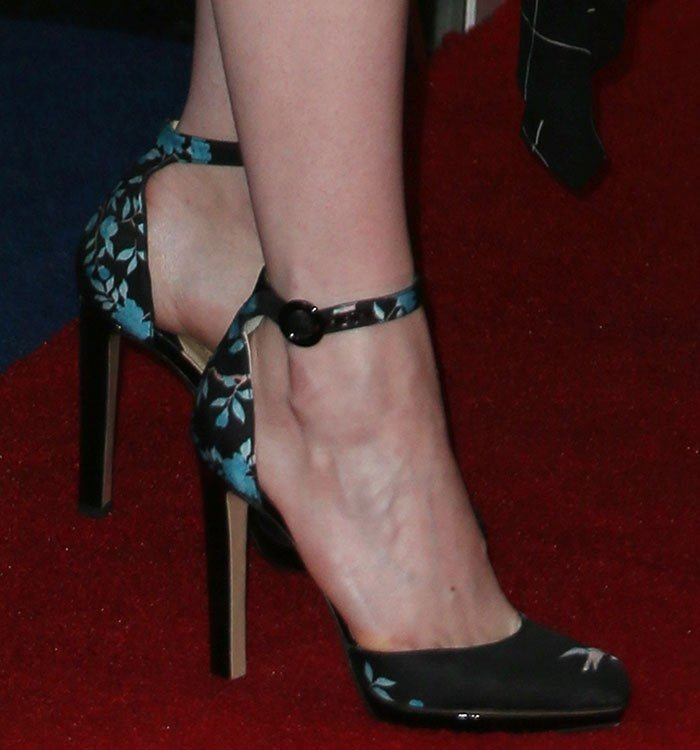 Emma-Stone-Paul-Andrew-floral-ankle-strap-pumps