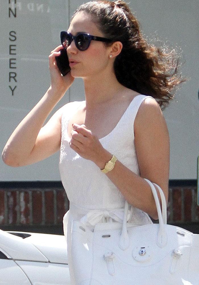 Emmy Rossum Block Heel Phone 1