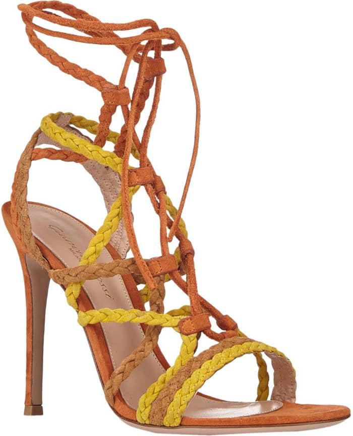 Gianvito Rossi Braided Strap Sandals