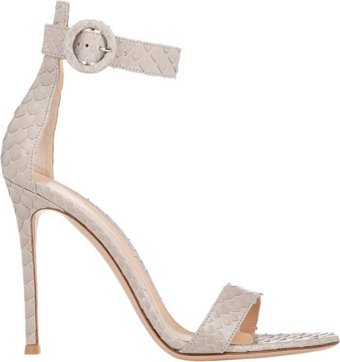 Gianvito Rossi Ankle-Strap Python Sandals