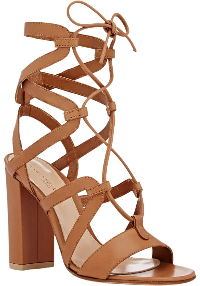 Gianvito Rossi Strappy Lace Up Sandals