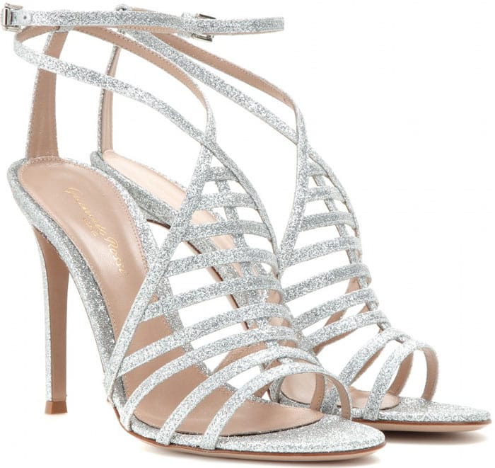 Gianvito Rossi Vega Glitter Sandals