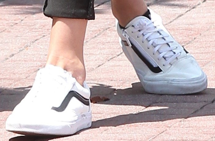 Gigi Hadid's old school zippered sneakers from Vans