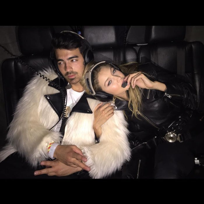 """Cara Delevingne uploaded a photo of the couple, introducing the new nickname with the caption, """"👀❤️👀❤️👀❤️👀❤️👀 introducing G.I. JOE 👅👅👅👅 @joejonas @gigihadid #GIJOE"""""""