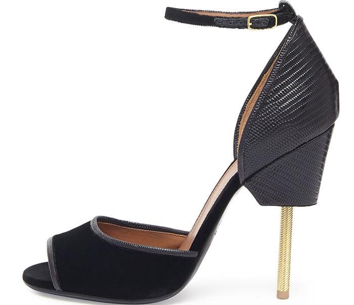 Givenchy Velvet & Lizard Runway Sandal