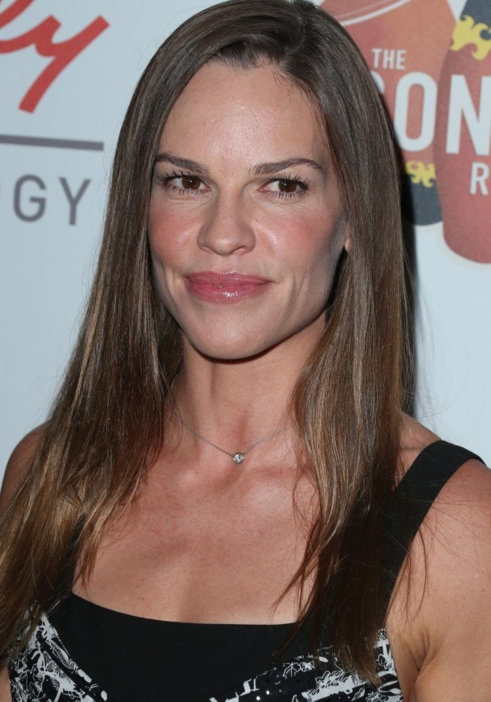 Hilary Swank announced she was taking a break to care for her father