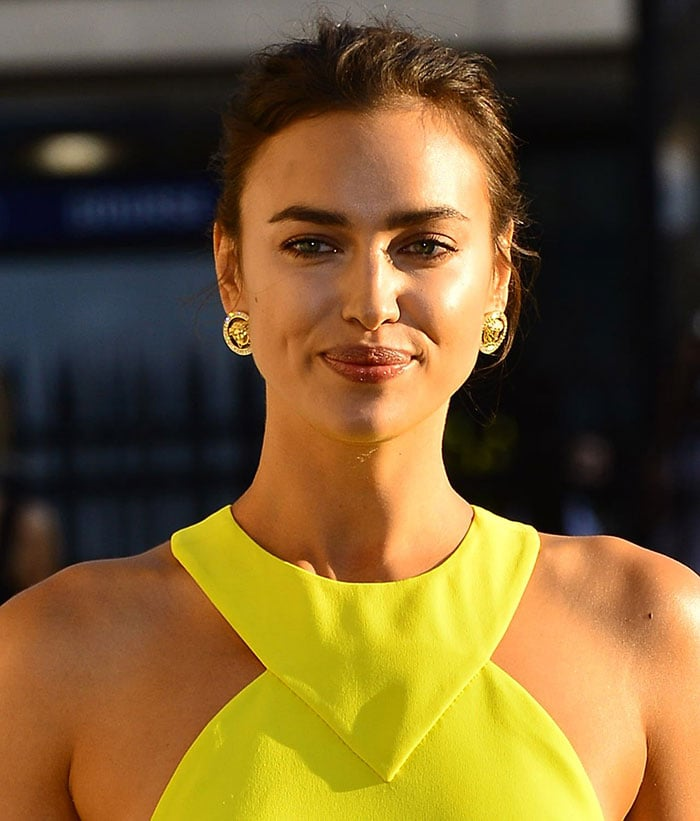 Irina Shayk's gold-plated and diamante Medusa earrings