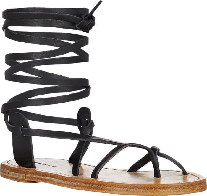 Black Isabel Marant Amy Ankle-Wrap Sandals