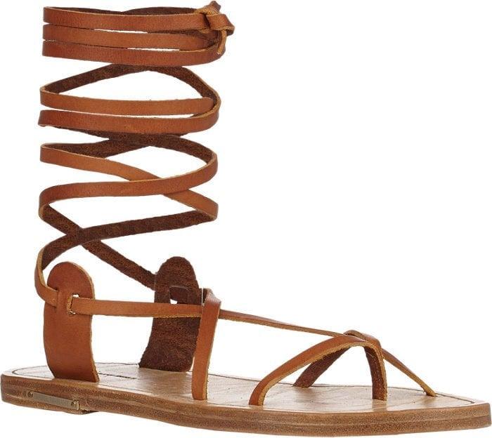 Isabel Marant Amy Ankle-Wrap Sandals