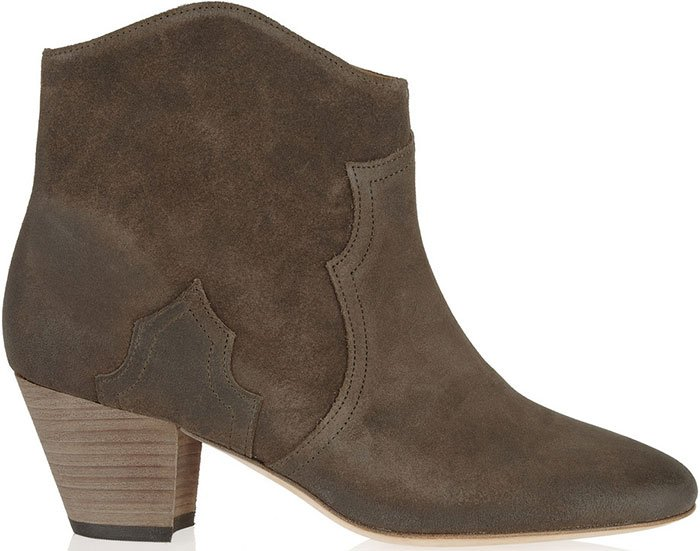 Isabel Marant Dicker Suede Bootse