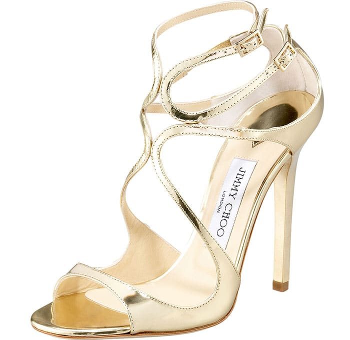 Jimmy-Choo-Lance-Gold-Metallic-Strappy-Sandals