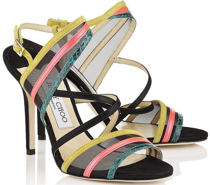 Jimmy Choo Multicolor Visby Sandals