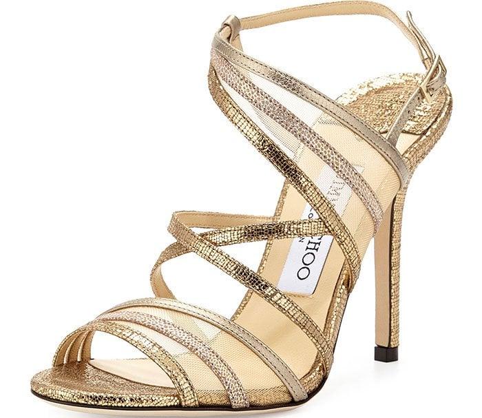 Jimmy Choo Metallic Visby Sandals