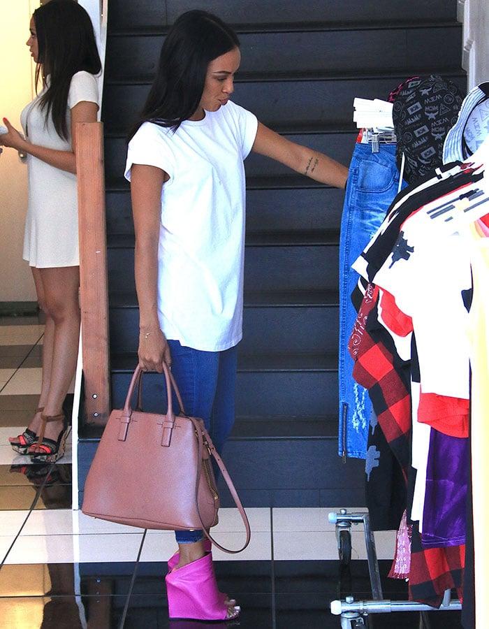 Karrueche-Tran-at-Christina-Milian's-Pop-Up-Shop