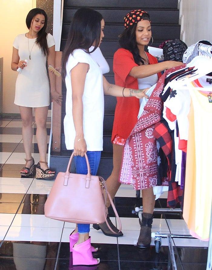 Karrueche-Tran-shops-at-We-Are-Pop-Culture