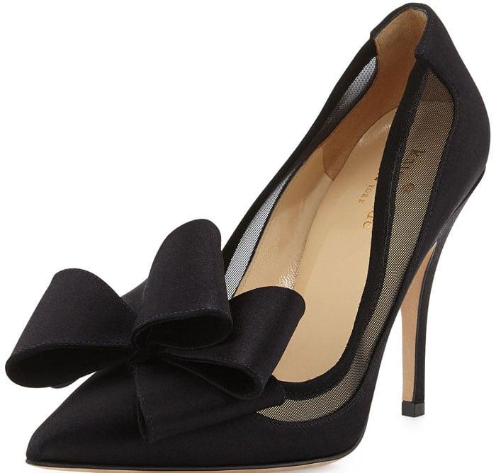 Kate Spade New York Lovely Satin Bow Pump in Black