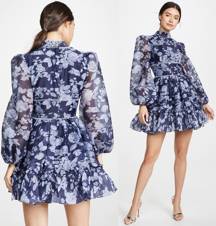 Navy Botanic Keepsake Halo Dress