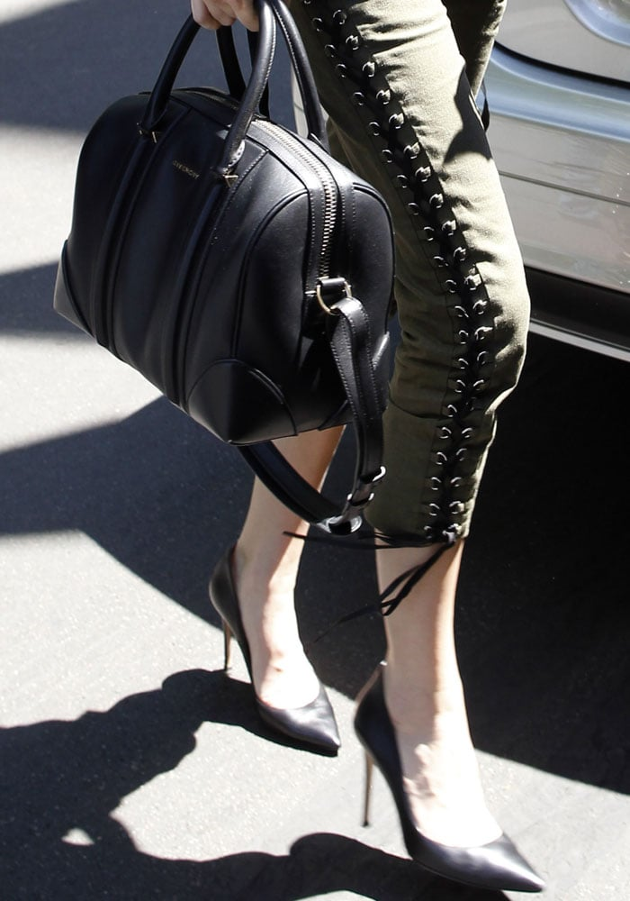 Kendall Jenner wearing Gianvito Rossi heels