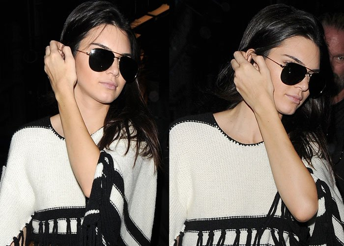 Kendall Jenner rocking sunglasses from Saint Laurent