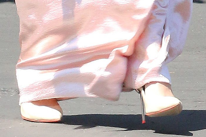 Sophia Webster Coco pumps on Kendall Jenner