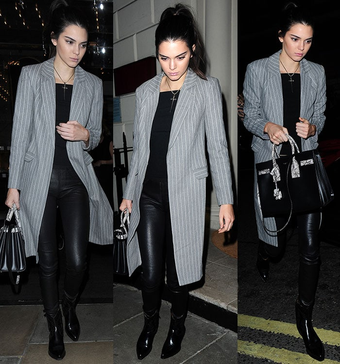 Kendall-Jenner-pinstripe-blazer-black-leather-pants-boots-1
