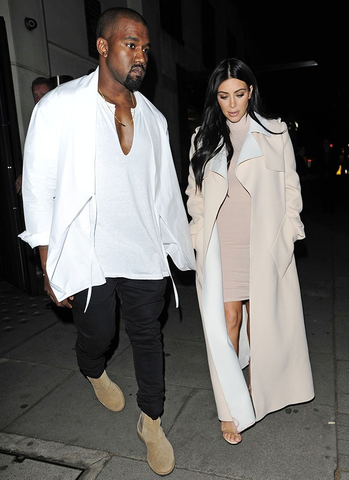 6404676c Kim Kardashian in Transparent Sandals on Date with Kanye West