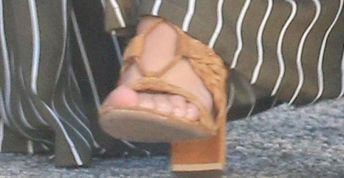 Kourtney Kardashian's braided Gianvito Rossi heels