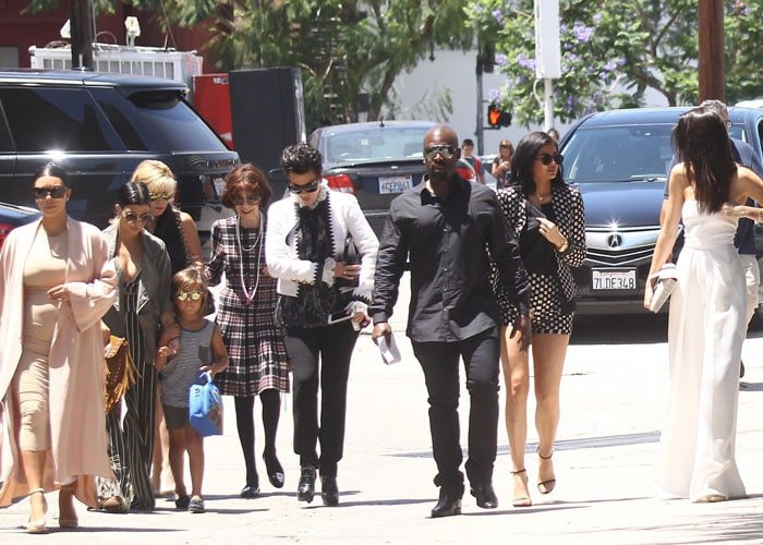 The Kardashian/Jenner family headed out to watch Phantom of the Opera in Los Angeles