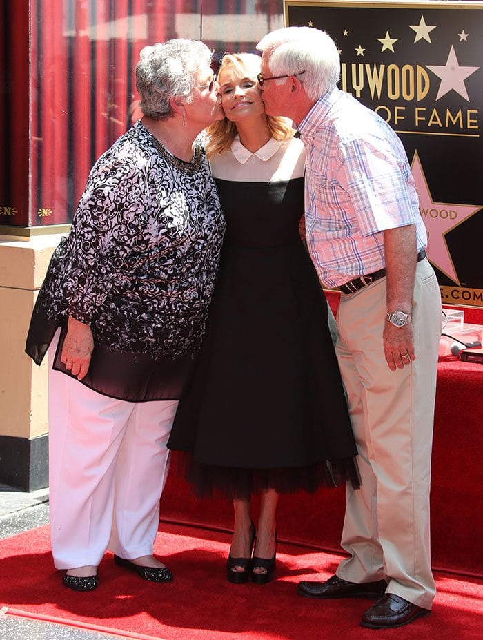 Kristin Chenoweth with her friends and family at the unveiling of her star on the Hollywood Walk of Fame in Hollywood on July 24, 2015