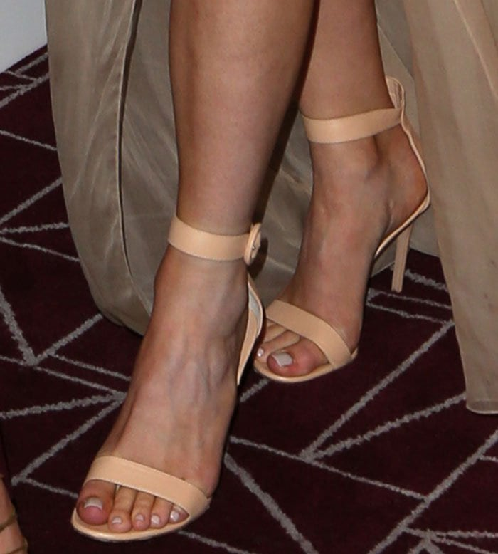 Kylie Jenner's sexy feet in Gianvito Rossi sandals