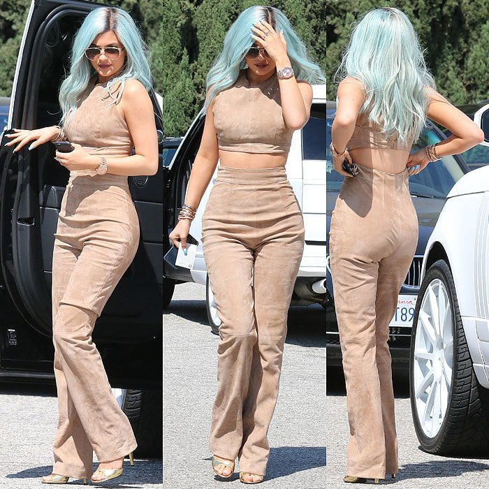 Kylie Jenner arriving at Salon 90210 in Beverly Hills, California