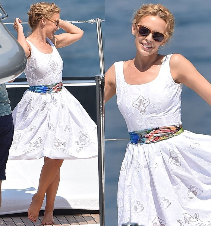 Kylie Minogue Has A Marilyn Monroe Moment In Dolce