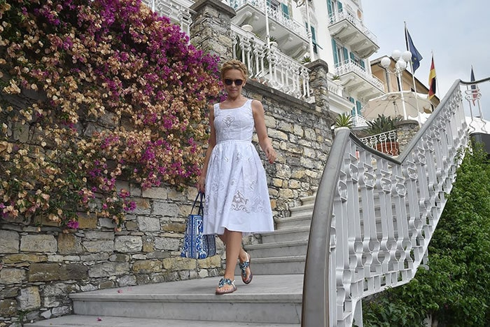 Kylie Minogue rocks head-to-toe Dolce &Gabbana while on a holiday in Portofino, Italy, on July 13, 2015