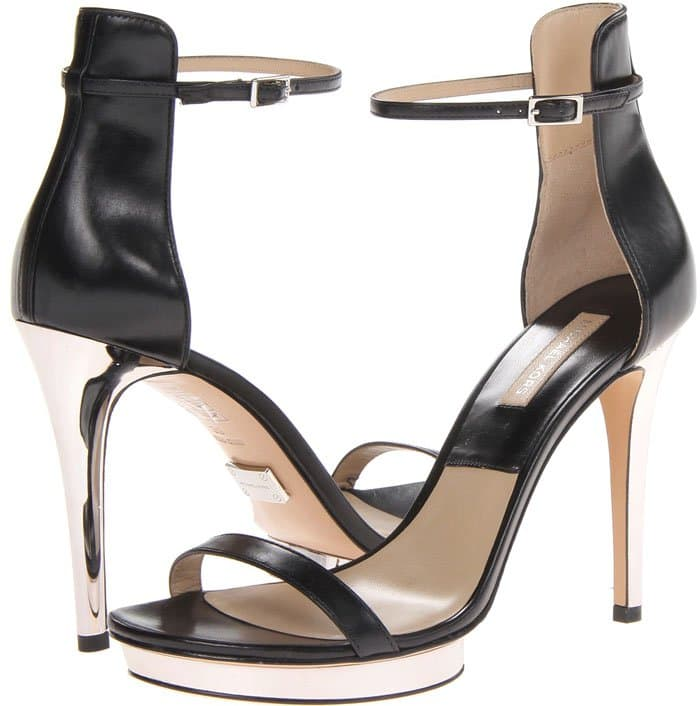 Michael Kors Doris Black Smooth Calf Sandals