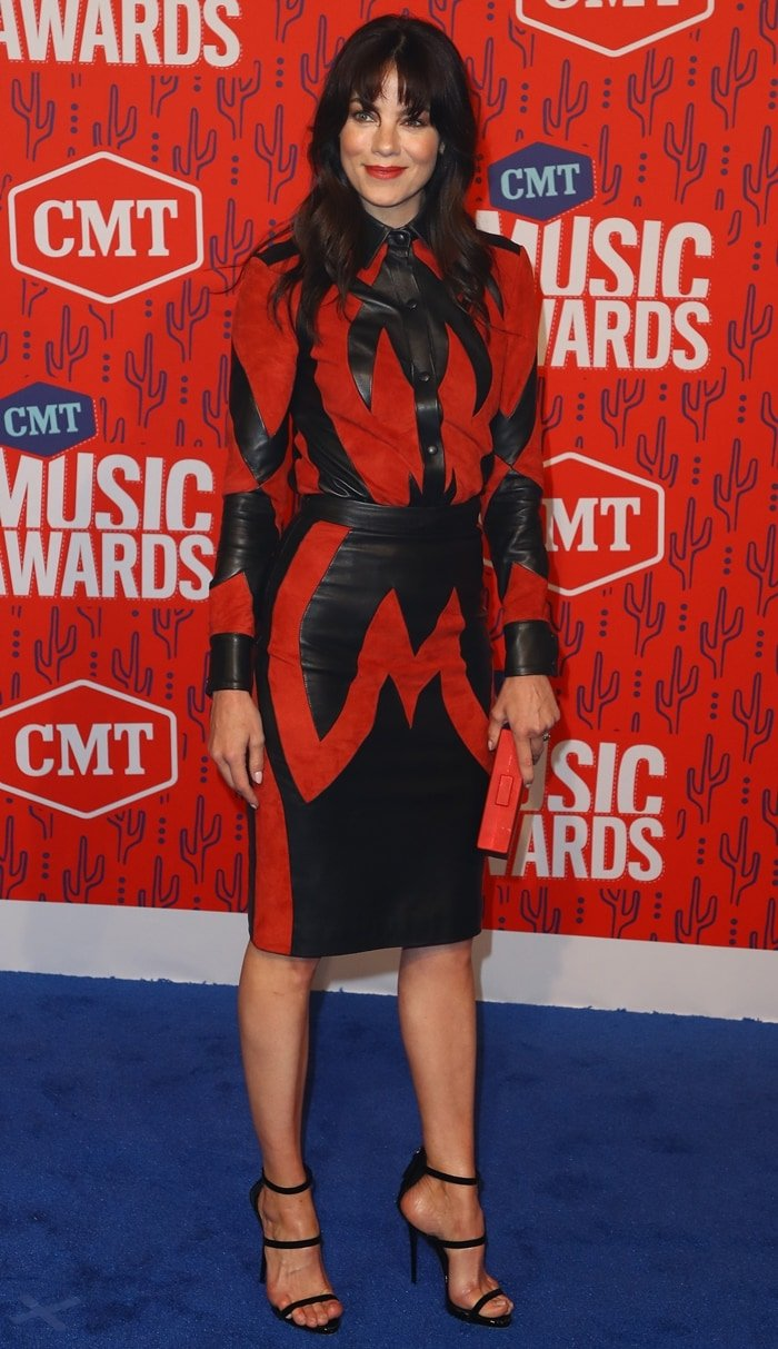 Michelle Monaghan paraded her hot legs at the 2019 CMT Music Awards