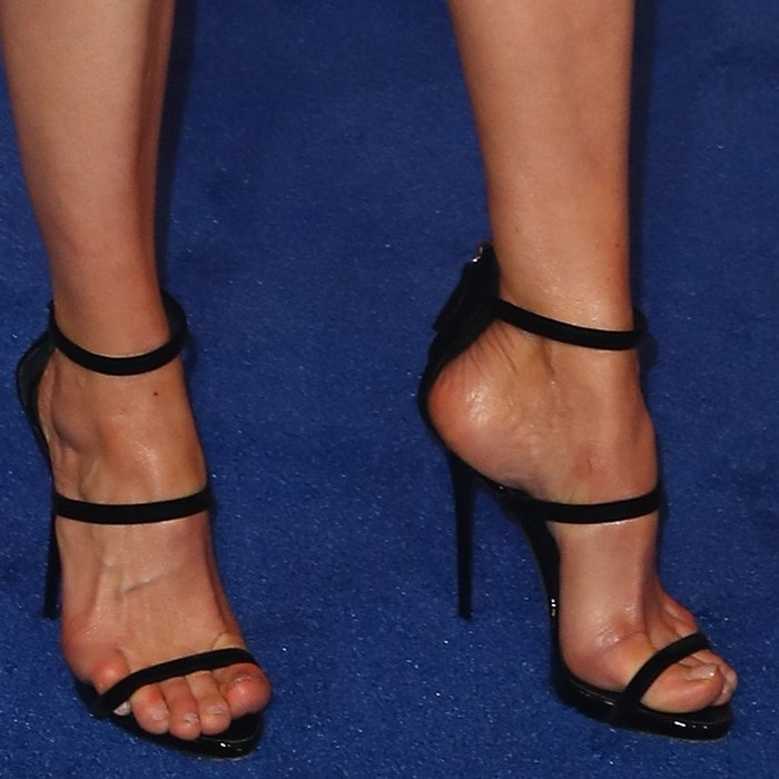 Michelle Monaghan's sexy feet in Giuseppe Zanotti shoes
