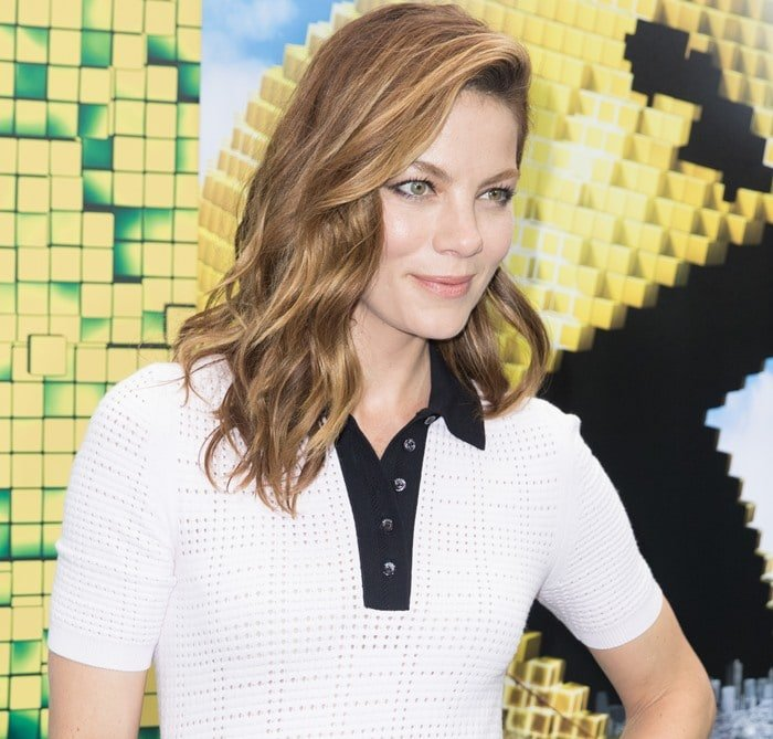 Michelle Monaghan at the premiere of her new movie Pixels
