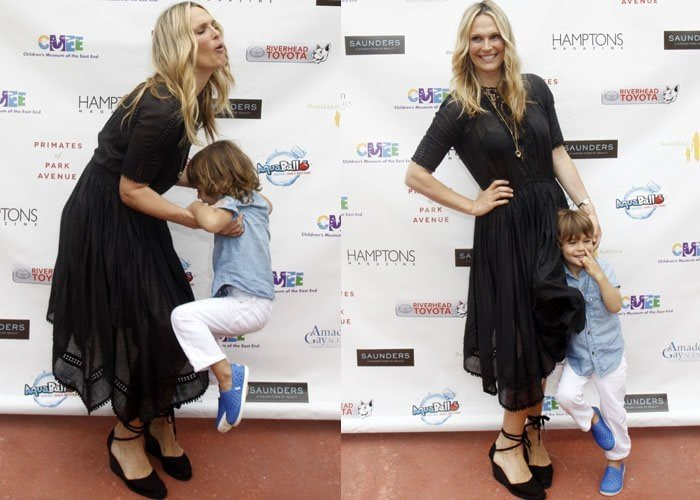 Molly Sims was joined by her adorable son Brooks