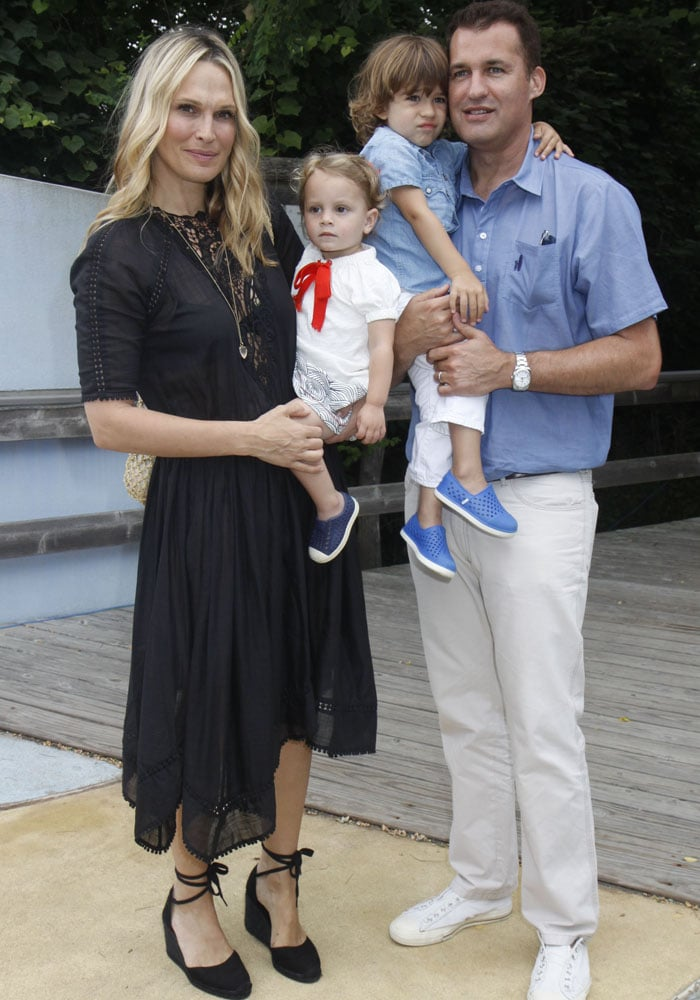 Molly Sims and family at the Hampton Living Is Good! children's event in Bridgehampton, New York on July 19, 2015