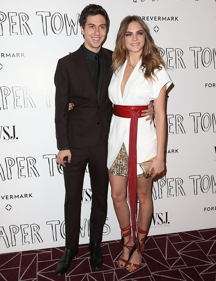 "Nat Wolff and Cara Delevingne at the ""Paper Towns"" special screening"
