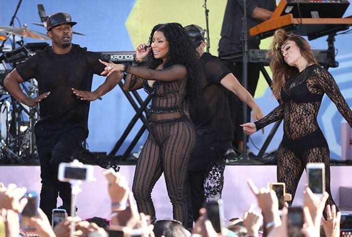 Nicki Minaj performs songs from The Pinkprint, her third studio album